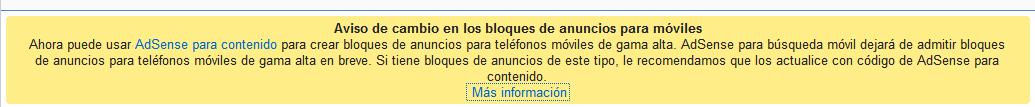 Mensaje google cierra adsense para moviles (adsense mobile closed)