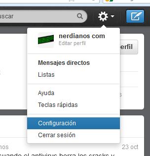 Configurar el nuevo formato de la cabecera de perfil en twitter pestaña configuracion