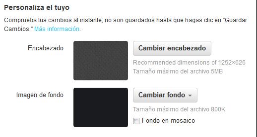 Configurar el nuevo formato de la cabecera de perfil en twitter seleccion encabezado