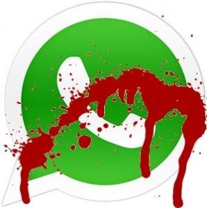 Logo whatsapp no funciona con sangre