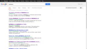 Imagen de la nueva interfaz del buscador de google